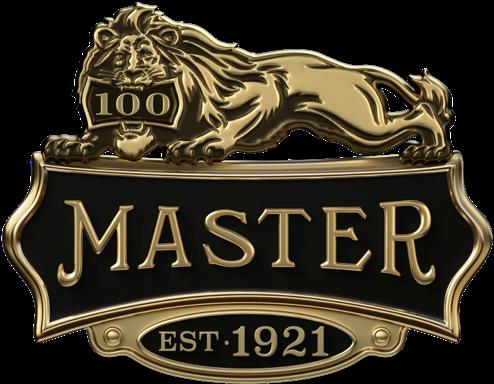 玛斯特锁100年庆祝活动狮子徽标